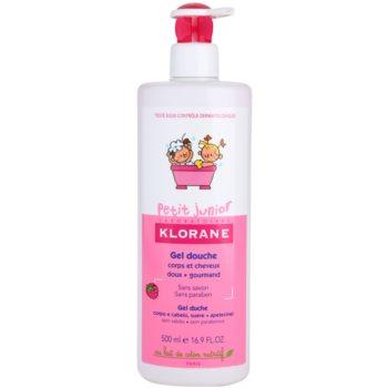 Klorane Junior sprchový gel na tělo a vlasy s vůní malin 500 ml