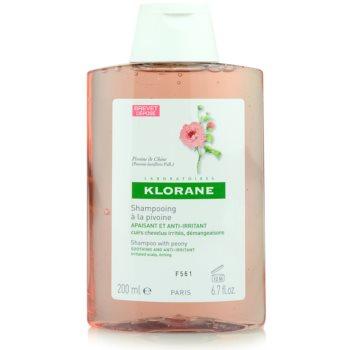 Fotografie Klorane Pivoine de Chine šampon zklidňující citlivou pokožku hlavy 200 ml