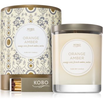 KOBO Motif Orange Amber lumânare parfumată