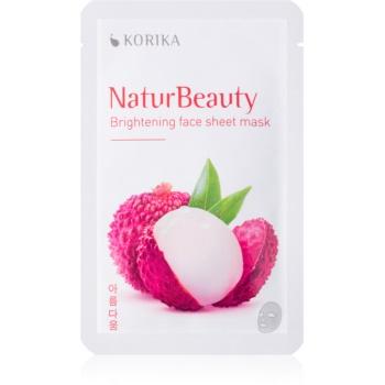 KORIKA NaturBeauty mască textilă iluminatoare