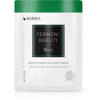 KORIKA FermentBeauty mască facială de pânză cu efect iluminator, cu orez fermentat și acid hialuronic imagine