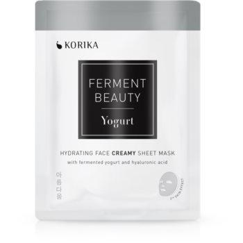 KORIKA FermentBeauty mască facială de pânză cu efect hidratant, cu iaurt fermentat și acid hialuronic poza noua