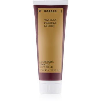 Korres Vanilla, Freesia & Lychee lapte de corp pentru femei 125 ml