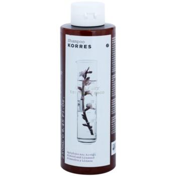 Fotografie Korres Hair Almond and Linseed šampon pro suché a poškozené vlasy 250 ml