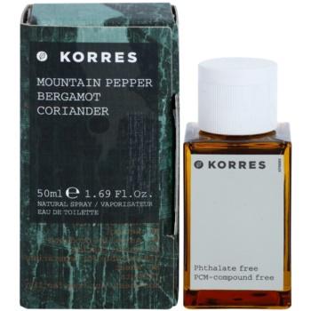 poze cu Korres Mountain Pepper (Bergamot/Coriander) Eau de Toilette pentru barbati 50 ml