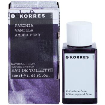 Korres Paeonia (Vanilla/Amber/Pear) toaletní voda pro ženy
