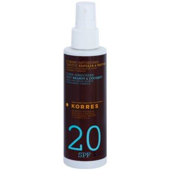 Korres Sun Care Walnut & Coconut lotiune pentru corp non-grasa SPF 20