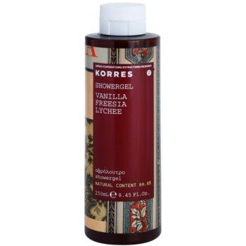 Korres Vanilla (Freesia/Lychee) sprchový gél pre ženy