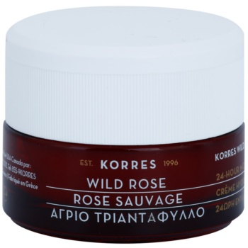 Korres Face Wild Rose crema ce ofera luminozitate si hidratare pentru ten mixt si gras