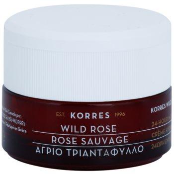 Korres Wild Rose crema ce ofera luminozitate si hidratare pentru ten mixt si gras