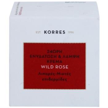 Korres Face Wild Rose rozjasňující a hydratační krém pro smíšenou a mastnou pleť 3