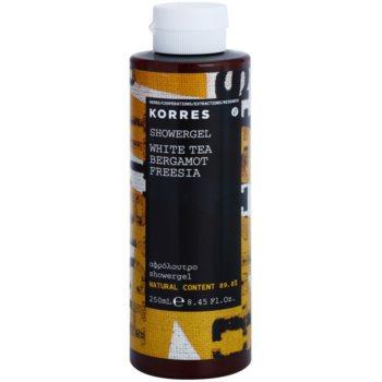 korres white tea (bergamot/freesia) gel de dus unisex 250 ml