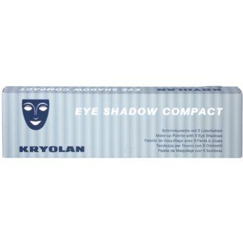 Kryolan Basic Eyes paleta de sombra de olhos 5 cores 2