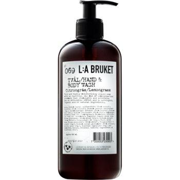 L:A Bruket Body tekuté mýdlo s citronovou trávou na ruce a tělo 450 ml