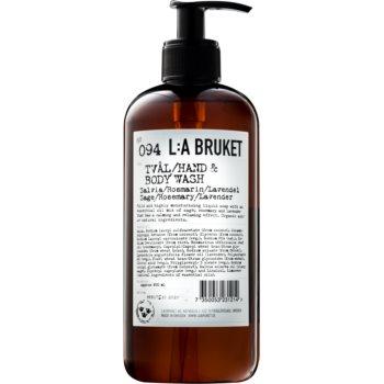 L:A Bruket Body tekuté mýdlo se šalvějí, rozmarýnem a levandulí na ruce a tělo 450 ml