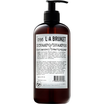 L:A Bruket Hair šampon pro normální až suché vlasy koriandr a černý pepř 450 ml
