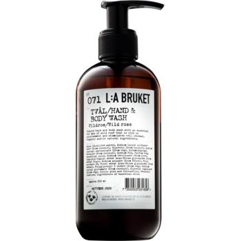 L:A Bruket Body tekuté mýdlo s divokou růží na ruce a tělo 250 ml