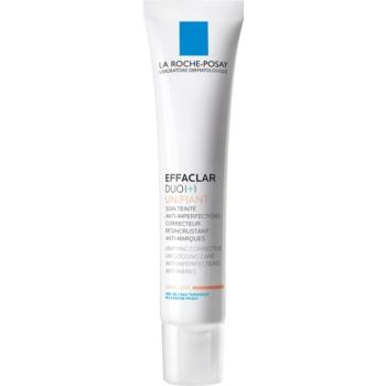 La Roche-Posay Effaclar DUO (+) tónovací sjednocující korekční péče proti nedokonalostem pleti a stopám po akné odstín Light Duo [+] 40 ml