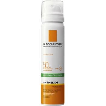 La Roche-Posay Anthelios spray revigorant pentru față anti-strălucire SPF 50