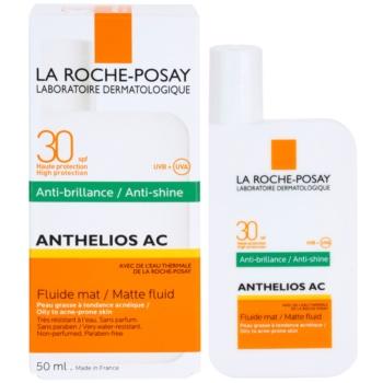 La Roche-Posay Anthelios AC ochronny fluid matujący do twarzy SPF 30 1