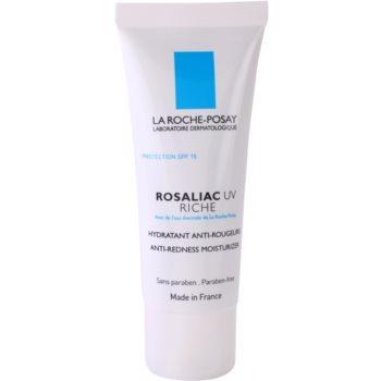 La Roche-Posay Rosaliac UV Riche Crema nutritiva si calmanta pentru pielea sensibila predispusa la roseata SPF 15