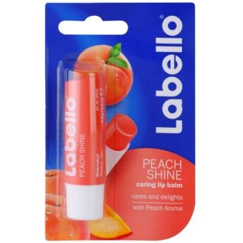 Labello Peach Shine balsam de buze colorat cu arome de piersici