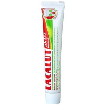 Lacalut Aktiv Herbal паста за укрепване на зъбите и венците