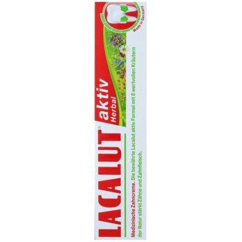 Lacalut Aktiv Herbal zobna pasta za krepitev zob in dlesni 3
