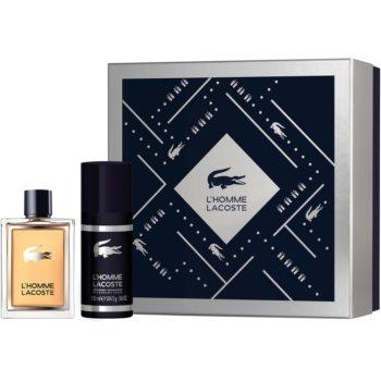 Lacoste L'Homme Lacoste EDT pro muže 100 ml + deospray pro muže 150 ml dárková sada