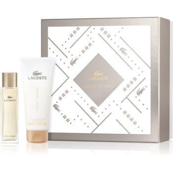 Lacoste Pour Femme EDP pro ženy 50 ml + tělové mléko pro ženy 100 ml dárková sada