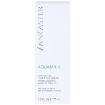 Lancaster Aquamilk creme nutritivo para mãos e unhas 3