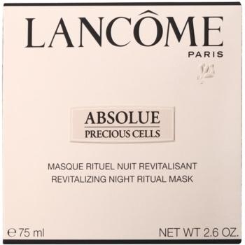 Lancome Absolue Precious Cells нощна ревитализираща маска за възстановяване на кожата на лицето 2