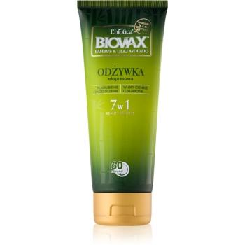 L'biotica Biovax Bamboo & Avocado Oil balsam regenerator express pentru par deteriorat  200 ml