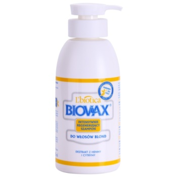 Liotica Biovax Blond Hair sampon pentru stralucire pentru par blond