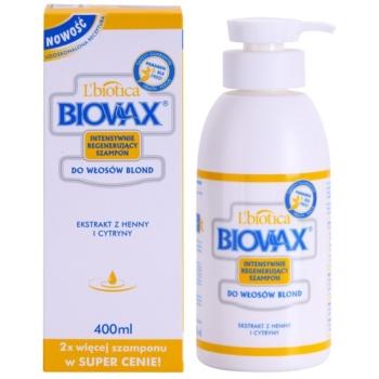 L'biotica Biovax Blond Hair sampon pentru stralucire pentru par blond 1
