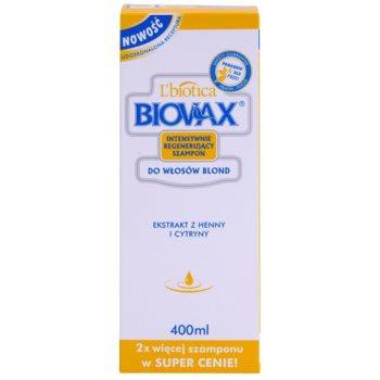 L'biotica Biovax Blond Hair sampon pentru stralucire pentru par blond 2