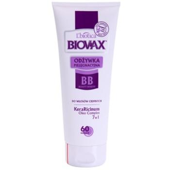 L'biotica Biovax Dark Hair vyživující kondicionér pro posílení a lesk vlasů