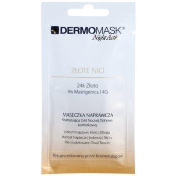 L'biotica DermoMask Night Active liftingová a zpevňující maska s 24 karátovým zlatem