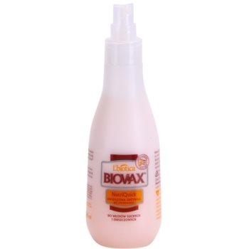 L'biotica Biovax Dry Hair двофазний зволожуючий крем для сухого або пошкодженого волосся