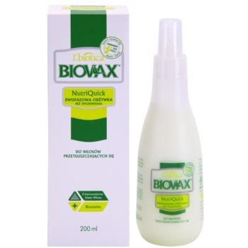 L'biotica Biovax Dull Hair spray hidratante bifásico para cabelo oleoso 1