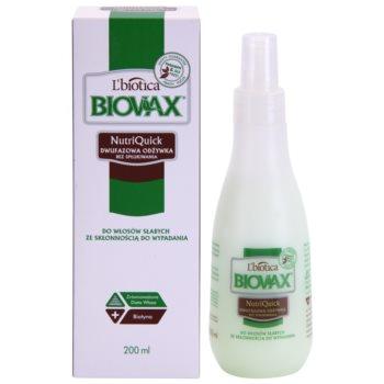 L'biotica Biovax Falling Hair dvofazno vlažilno pršilo za krepitev in sijaj las 1
