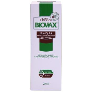 L'biotica Biovax Falling Hair dvofazno vlažilno pršilo za krepitev in sijaj las 2