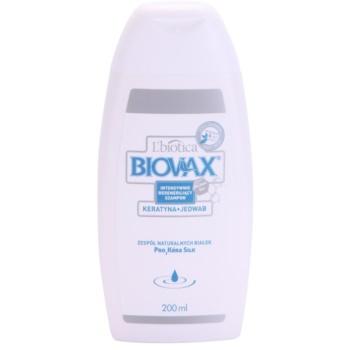 L'biotica Biovax Keratin & Silk sampon fortifiant cu complex de keratina