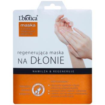 L'biotica Masks regenerierende Maske für die Hände in Handschuhform