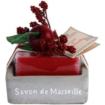 Le Chatelard 1802 Cherry luxusní francouzské mýdlo s mýdelníkem