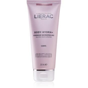 Lierac Body-Hydra+ crema exfolianta cu microgranule.