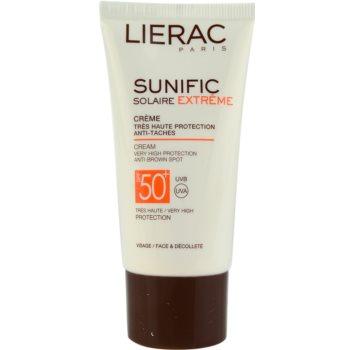 Lierac Sunific Extreme слънцезащитен крем против пигментни петна SPF 50+
