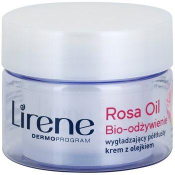 Lirene Essential Oils Rose crema nutritiva pentru netezire pentru ten matur