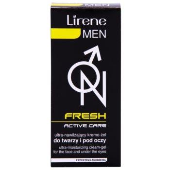 Lirene Men Fresh żelowy krem nawilżający do łagodzenia 3