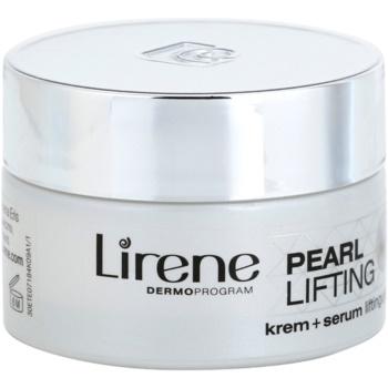 Lirene Pearl Lifting денний омолоджуючий крем з властивостями сироватки 45+